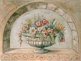 2735 Fresco 'Flowers in Arch'