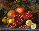 2979 A still life of pomegranites