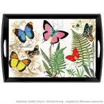 Decoupage Tablett /Papillon/ WTD298