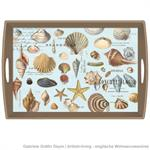 Decoupage Tablett / Seashells / WTD304