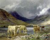 2933 Highland Cattle by a Loch I