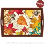 Decoupage Tablett / Fall Symphony / WTD315