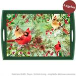 Decoupage Tablett / Christmas Pine / WTD293